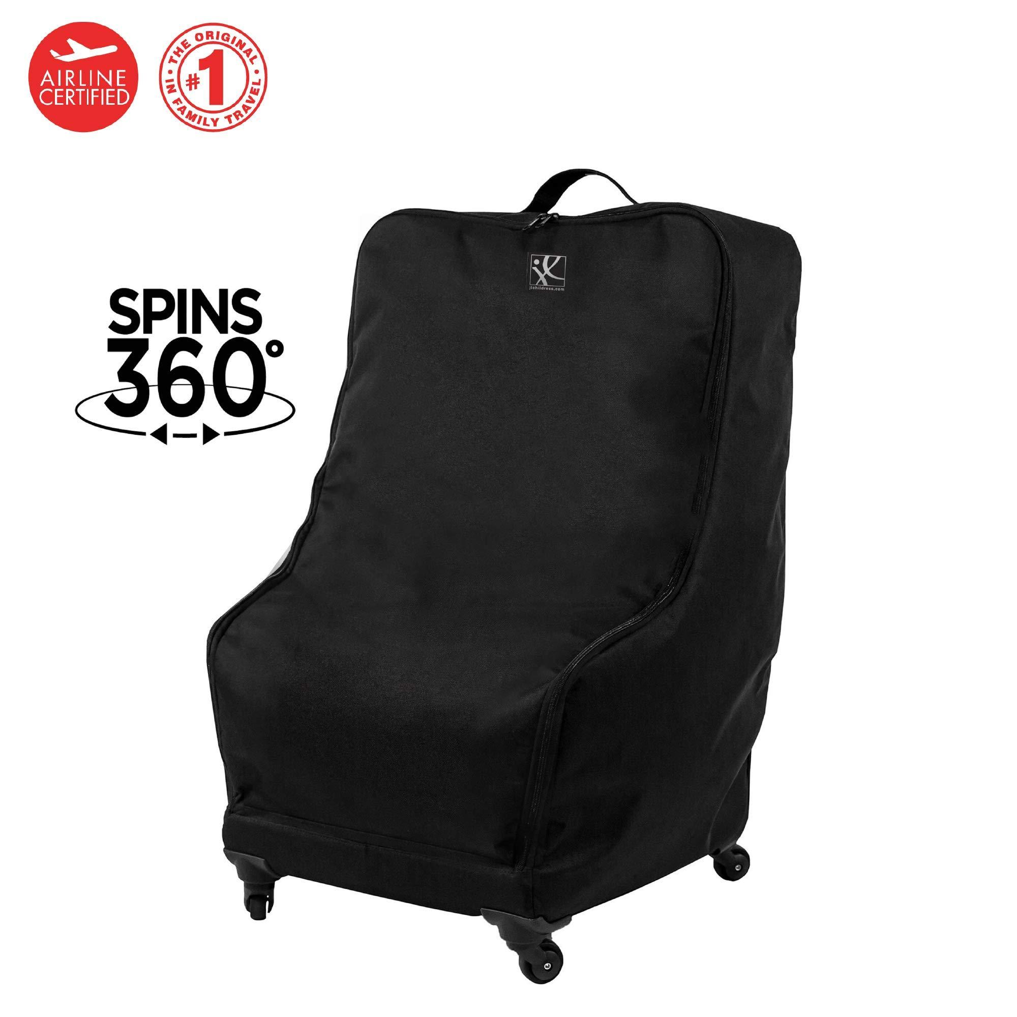 J.L. Childress Spinner Wheelie Deluxe Car Seat Travel Bag, Black by J.L. Childress