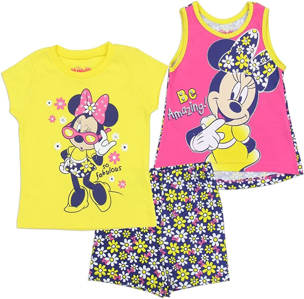 Outfits /& Sets!2Pcs Baby Girls Minnie Mouse T-shirt Tops+Shorts Summer Clothes