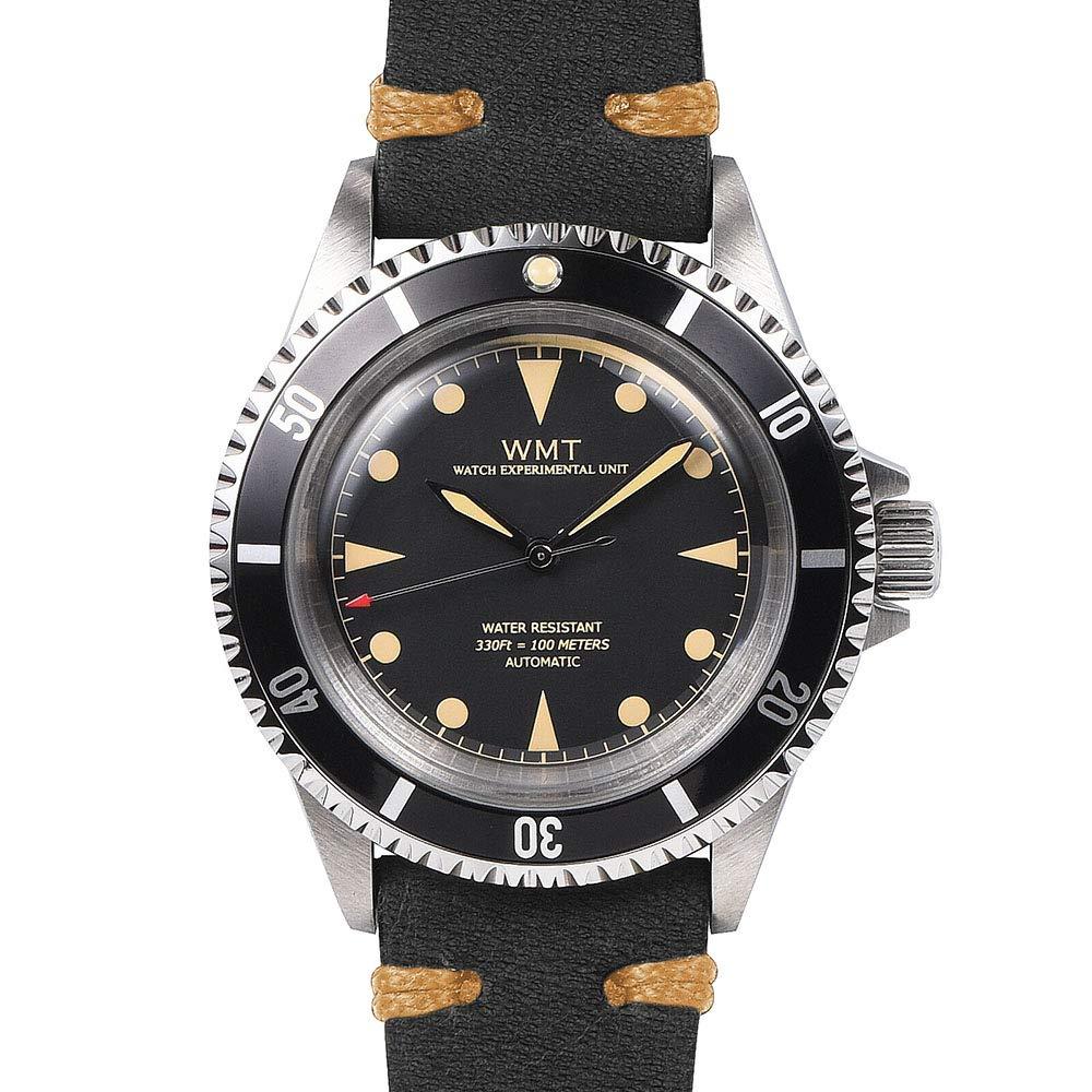 Unisex Mitt Edelstahl 316l Leder Taucher Marine Royal Miyota Automatik Uhr Walter Schwarz nvwN8P0Oym