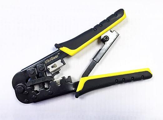 ubigear Cable Tester + Crimp crimpadora + 100 RJ45 CAT5 CAT5E Conector Plug Red herramienta Kits: Amazon.es: Bricolaje y herramientas