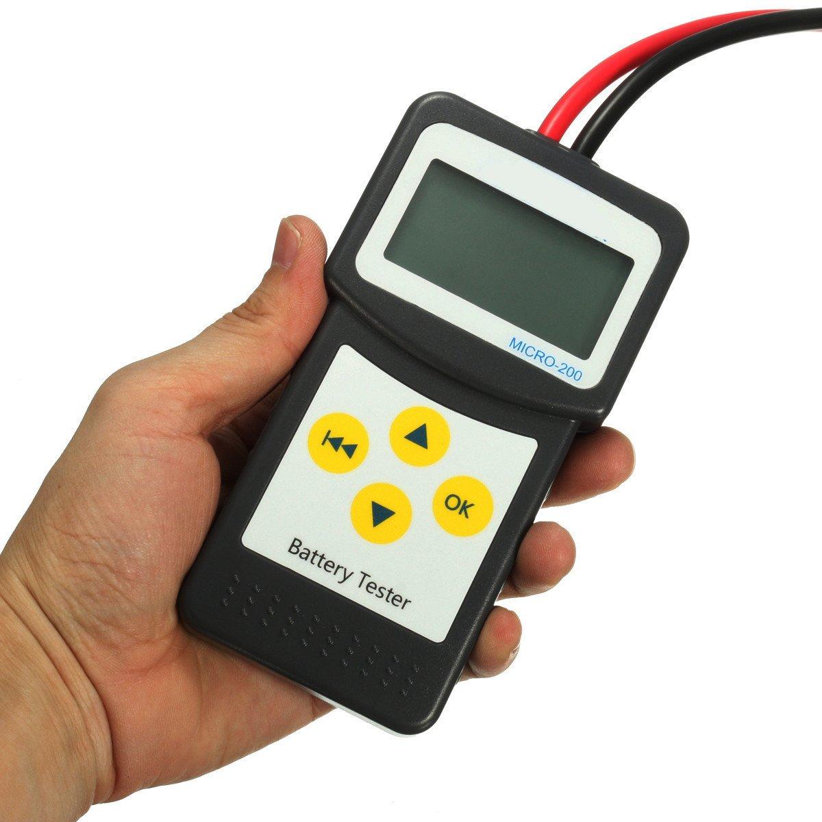JenNiFer 12V Car Battery Tester Automotive Vehicle Battery Analyzer AGM GEL MICRO-200