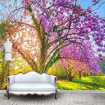 Papel Pintado Fotomural Primavera de colores Fondo de ...