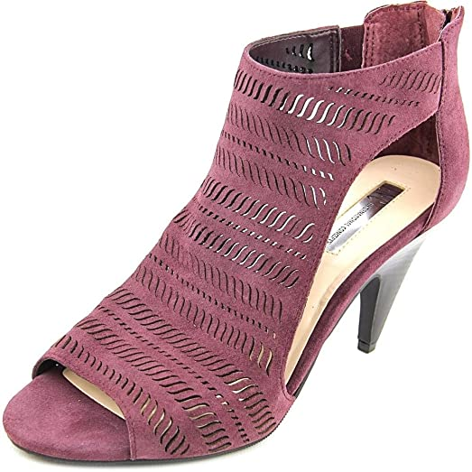 INC International Concepts Womens Granell Suede Peep Toe Dark Plum Size 90