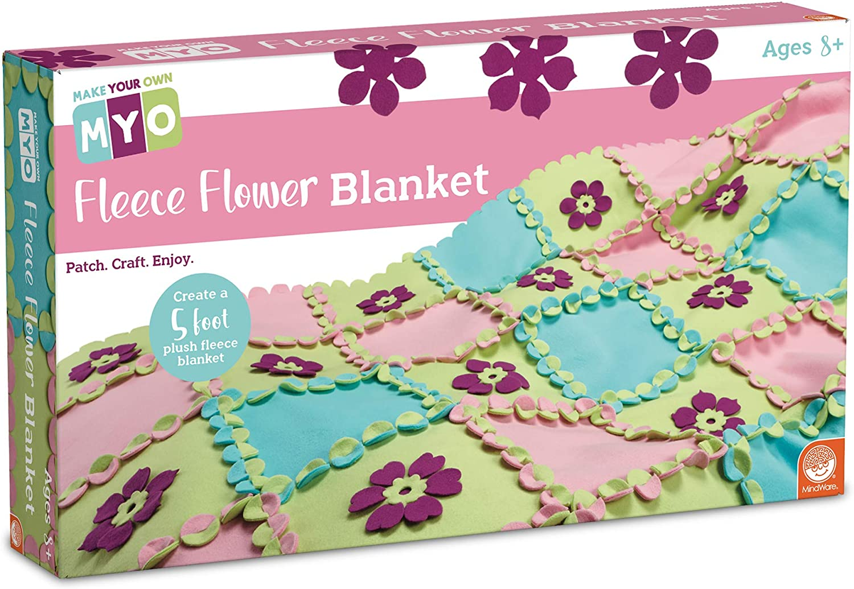 MindWare Make Your Own Fleece Flower Craft Fleece Flower Blanket