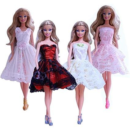Barbie Schuhe Kleidung Puppen Kleider Geschenk für Mädchen Kostüm Zubehör Babypuppen & Zubehör
