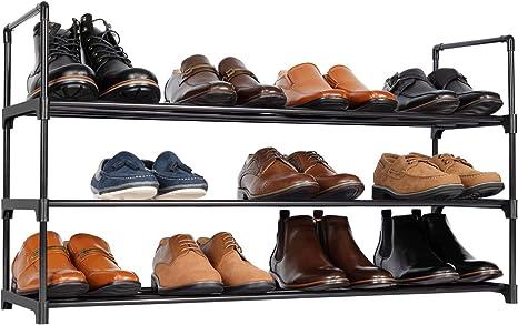 3 Tier 15 Pair Shoe Rack Storage Organiser Shelf NEW