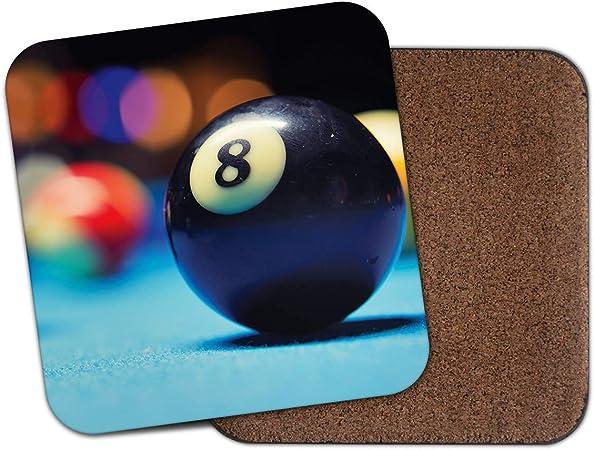 1 posavasos con forma de pelota de la suerte 8 – Bolas de billar Snooker bar deportivo Cool Dad regalo #16449: Amazon.es: Hogar