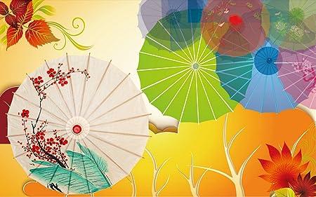 Wall Murals 3d Wallpaper Colourful Colourful Umbrellas Simple Oil