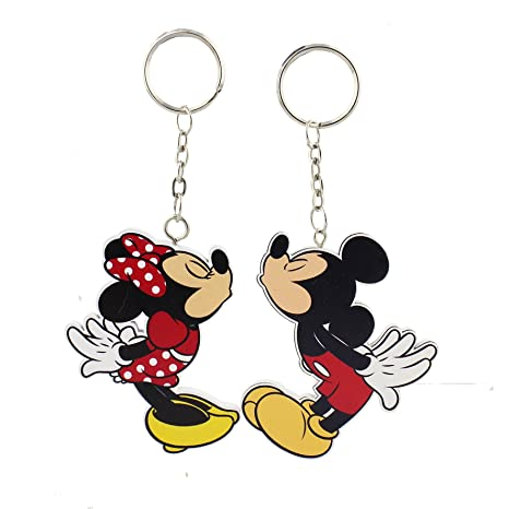 Mickey Mouse Minnie Mouse Disney llavero Set de regalo ...