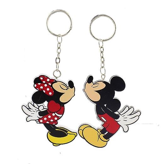 Mickey Mouse Minnie Mouse Disney llavero Set de regalo ...