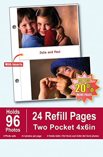 Amazoncom Burnes Of Boston Photo Album Refill Pages 4 By 6 Inch