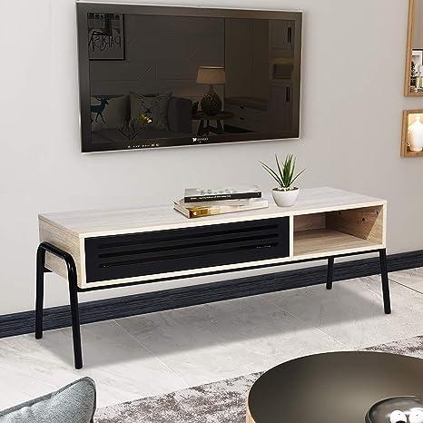 Unidad de TV, gabinete de TV moderno de 125 cm con hueco ...
