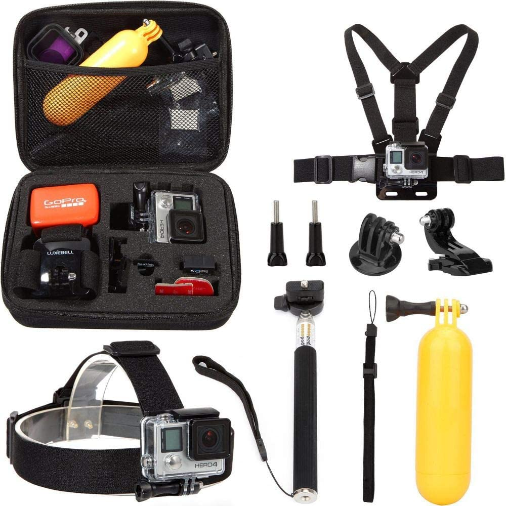 Ozone 8 in 1 Accessory Set (Straps, Carry Case, Monopod, Thumbscrew, Floaty) for GoPro Hero4/ Hero3