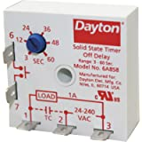 Dayton Encapsulated Timer Relay, Function: Off Delay, Status Indicator: None, 1A Contact Amp Rating (Resist - 6A858