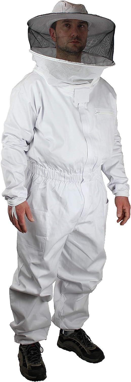 Confort S/écurit/é Rayon de Mouvement Taille 128 /à 5XL 3XL Blanc//Noir F/örster-Fellnest Rev/êtement certifi/é T/ÜV pour Imker : Combinaison dimmersion 100/% Coton Respirant