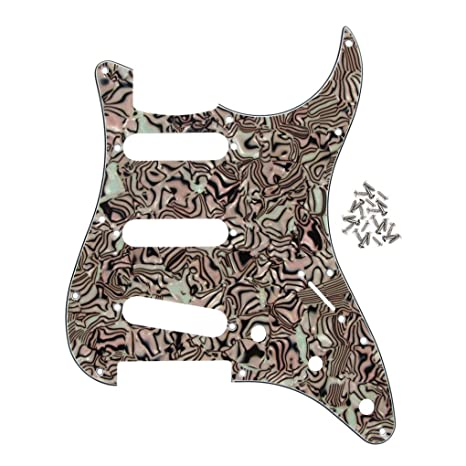 FLEOR 11 agujeros SSS guitarra eléctrica estilo Golpeador con ...