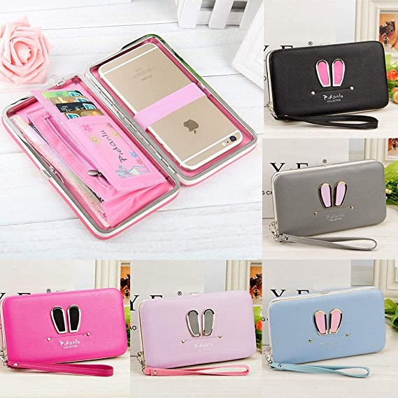 94e165d873f7 Amazon.com: Girl Women Lady PU Leather Clutch Wallet Long Card ...