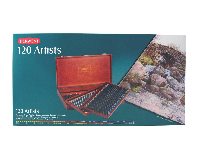 Derwent Artists Colored Pencils, 4mm Core, Wooden Box, 120 Count (32098) by Derwent (Image #5)
