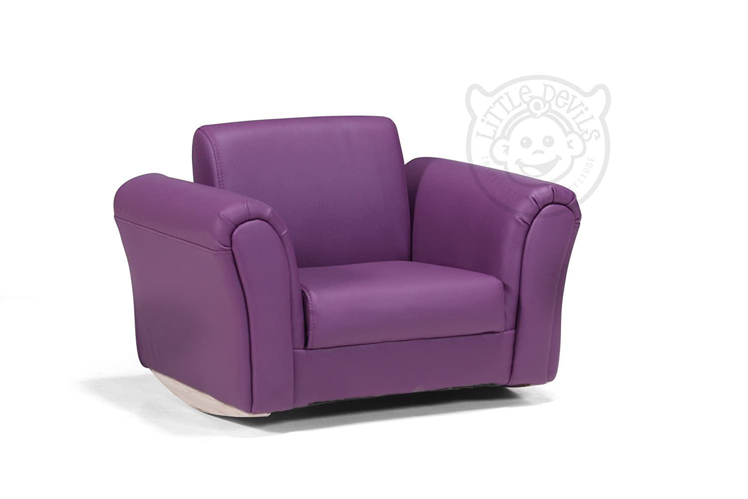 PURPLE LEATHER LAZYBONES KIDS TWIN SOFA Chair/Seat/Armchair/Sofa For  Children/Childs: Amazon.co.uk: Kitchen & Home