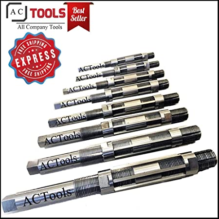 "H4-H12 15//32/"" to 1-3//16/"" HSS #515-ADJ9 9 pcs//Set Adjustable Hand Reamers A-I"