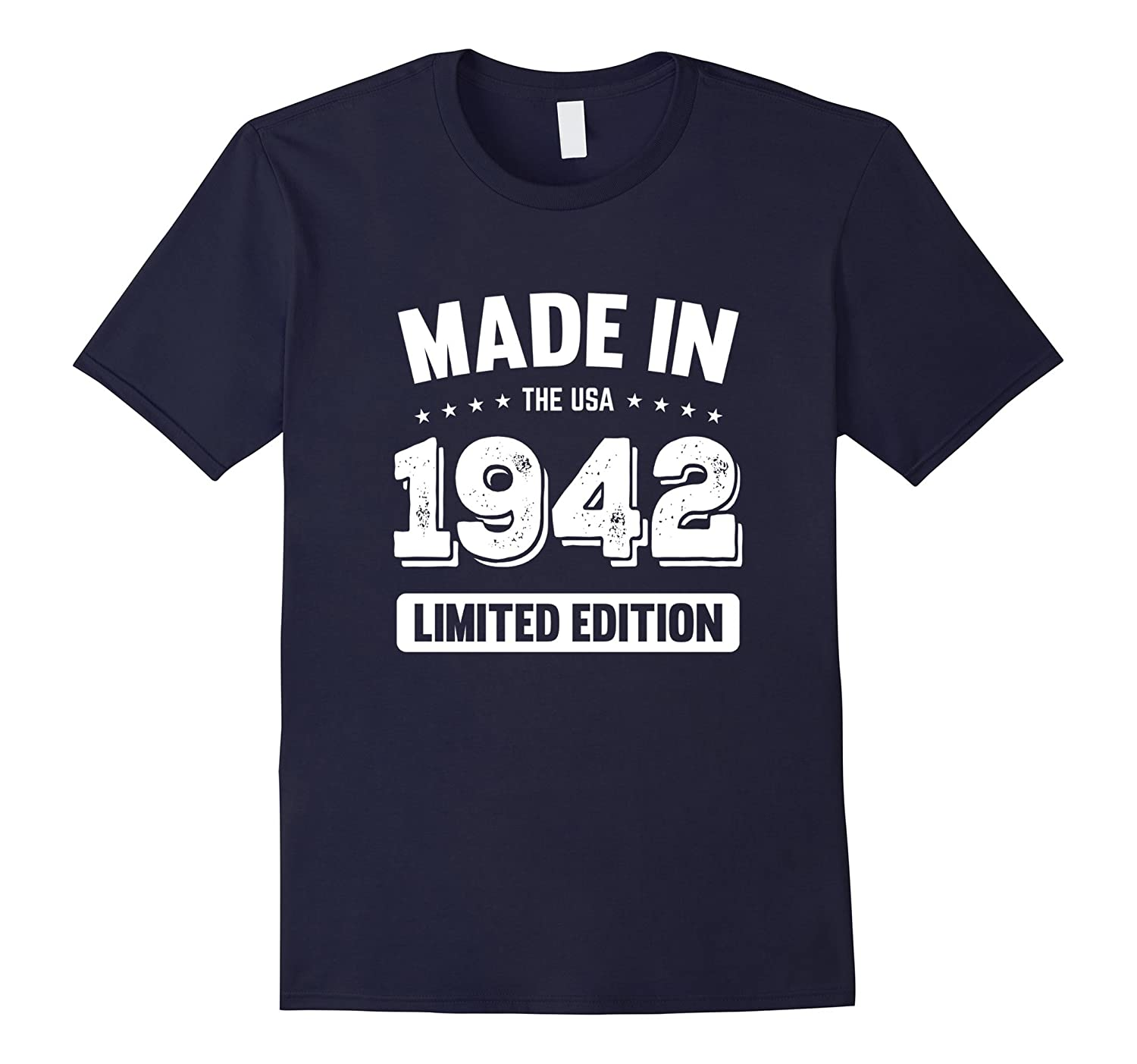 75th Birthday Gift T Shirt - Made In 1942 T-Shirt 1942 Shirt-FL