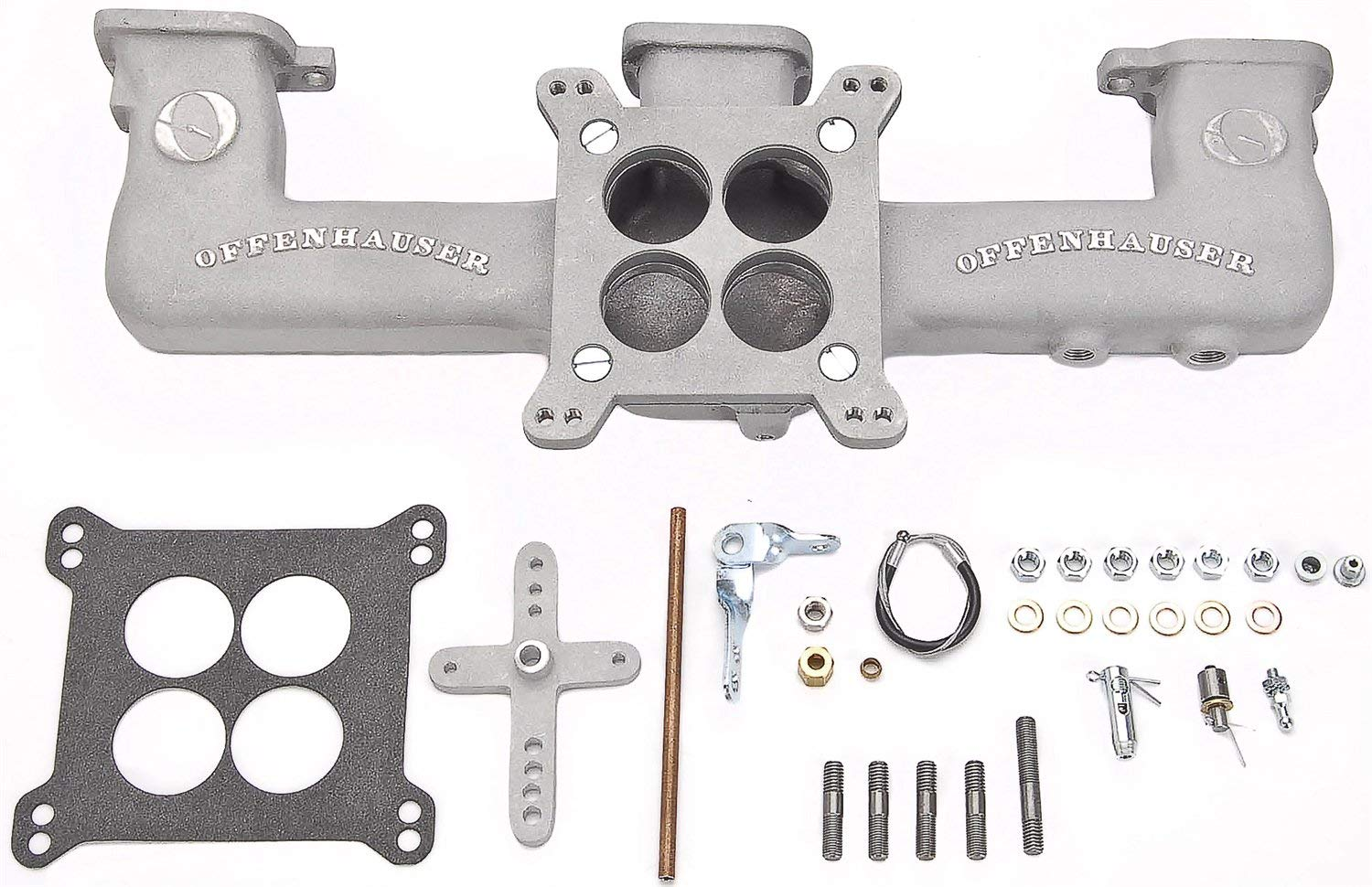Offenhauser 5416 Quad Carb Intake Manifold Kit 1962-Up Chevy 194/230/250/292