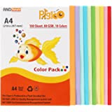 PIGLOO™ Premium A4 Color Paper for Photocopy - 100 Sheets. 10 Colour. 80GSM