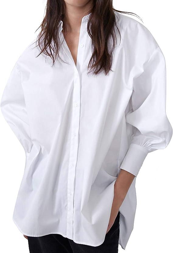 Zara 8663/029/250 - Camisa de Mujer Blanco M: Amazon.es: Ropa y accesorios