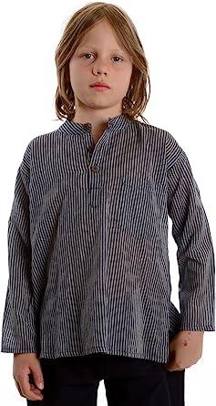 HEMAD/Billy Held - Camisa - Rayas - cuello mao - Manga Larga - para niño
