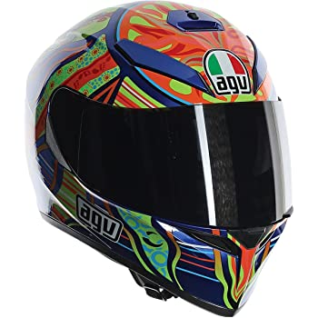 AGV 0301O0F000410 unisex-adult full-face-helmet-style K-3 SV 5-Continent (Multi, X-Large), 1 Pack