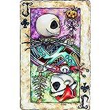"""Halloween Poker Jack Skull 5D Diamond Painting Kit for Adults Diamond Art Painting with Diamond Kits 12x16"""" (Halloween 1…"""