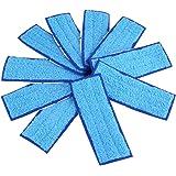Mopping Pad 10 paquetes de almohadillas de limpieza lavables para iRobot Braava Jet 240/241(wet pad-Blue)