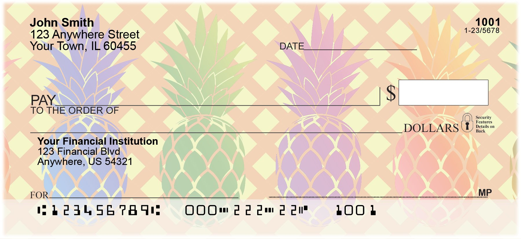 Pineapples Personal Checks (2 Boxes Singles)