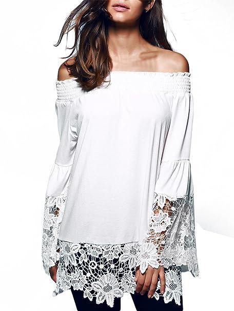 Camiseta Manga Larga Mujer Elegante Moda Clásico Especial Encaje Street Style Blusas Primavera Otoño Manga Larga