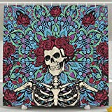 Pillow Hats 60 X 72 Inch Grateful-dead - Anti Bacterial Waterproof Shower Curtain - Water, Soap, And - Machine Washable - Shower Hooks Are Included For Bathroom