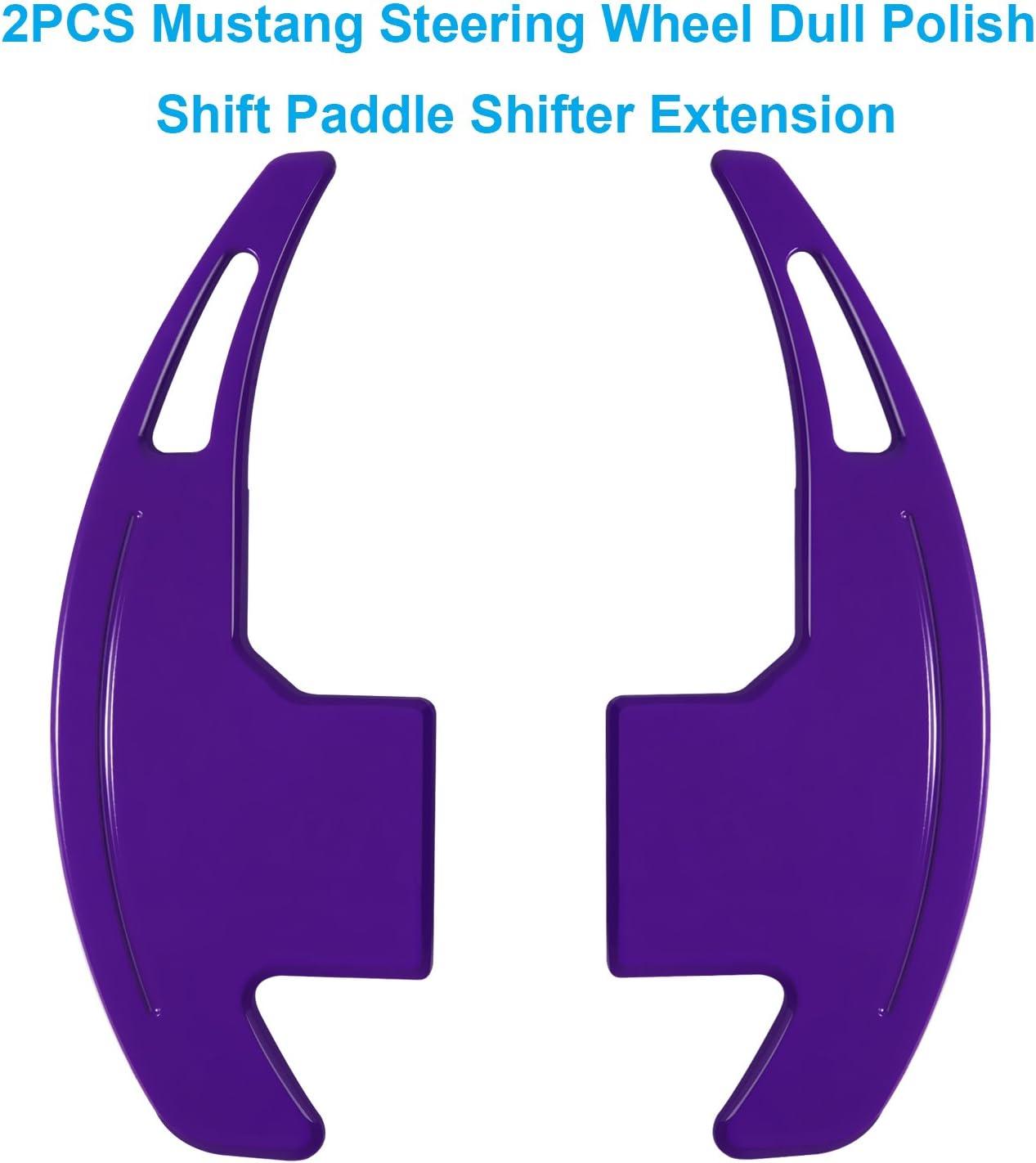 Purple Danti 2Pcs Aluminum Steering Wheel Dull Polish Shift Paddle Shifter Extension for Ford Mustang 2015 2016 2017 2018