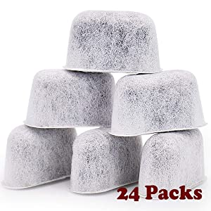 HiWater 24-Packs Keurig Compatible Coffee Replacement Charcoal Water Filters For Keurig 2.0 and Older Coffee Machines - Not Fit Cuisinart Models