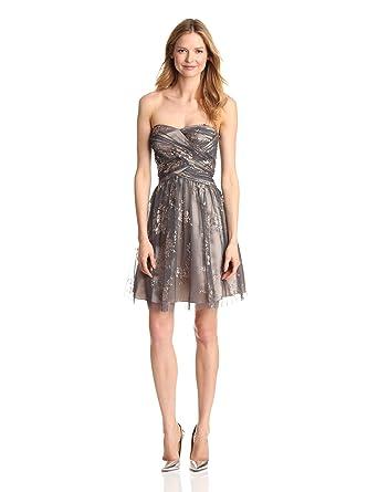ad0cf829c215df Adrianna Papell Hailey Women s Dresses Women s Glitter Party Dress at  Amazon Women s Clothing store  Adrianna Papell Hailey Charcoal