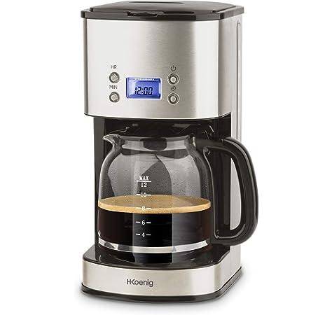 Top Chef TOPC558 - Cafetera programable con filtro de acero inoxidable (1,5 L, 12 tazas): Amazon.es: Hogar