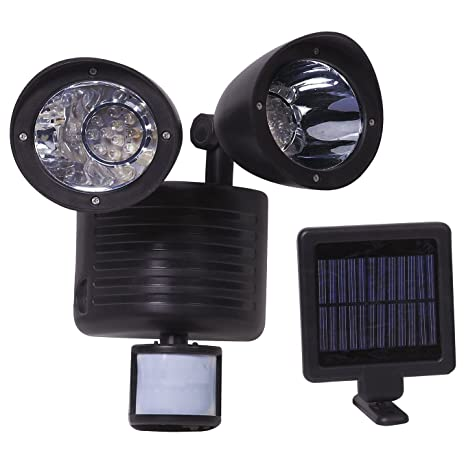 22 LED Lámpara Solar con PIR Sensor de Movimiento Doble cabeza luces solares de pared Resistente