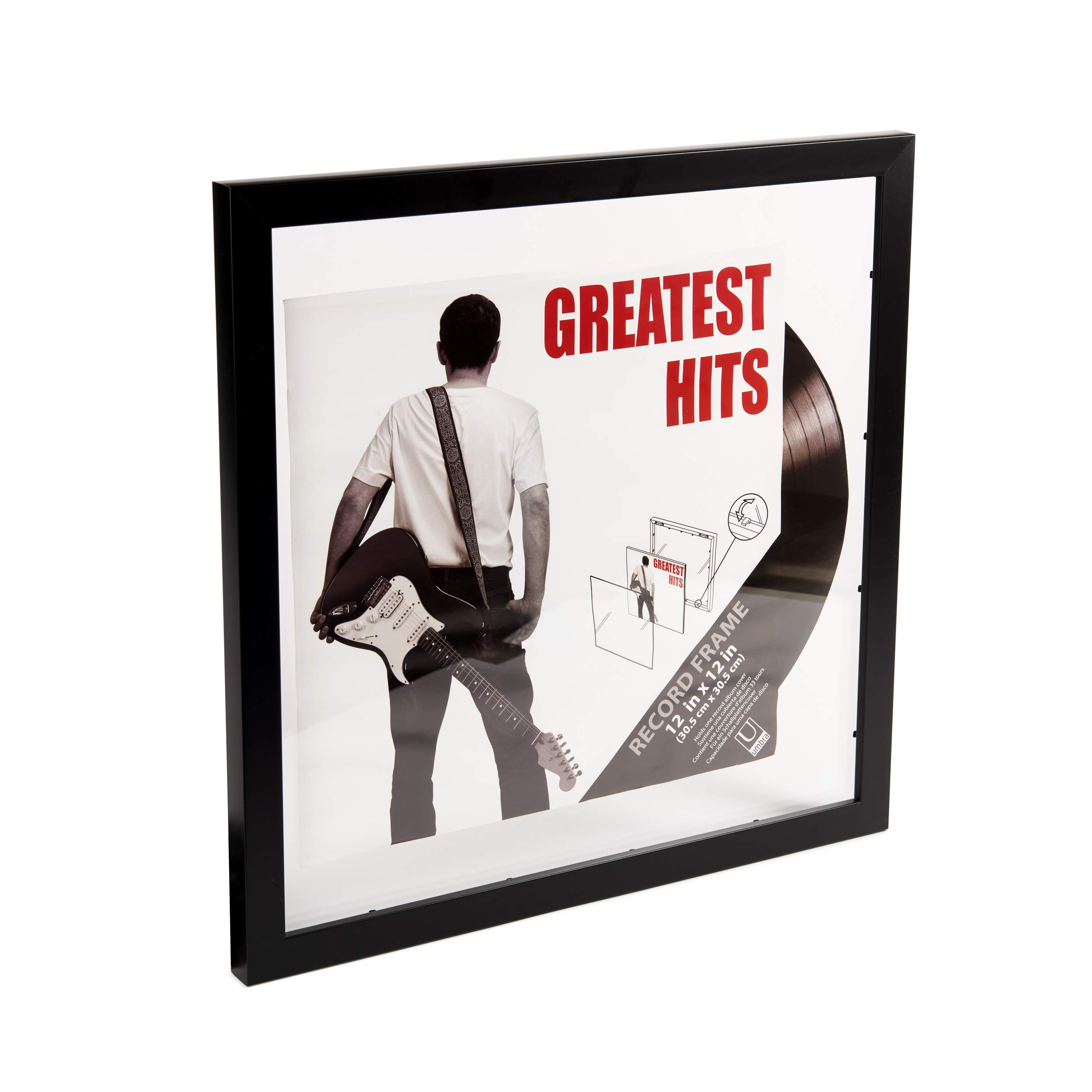 Umbra Record Album Frame 14-1/2x14-1/2-Inch, Modern Picture Frame Designed to Display a Floating 12-Inch by 12-Inch Album Cover by Umbra (Image #6)