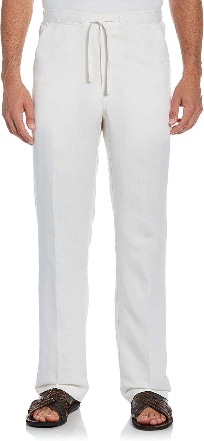 Cubavera Men's Drawstring Pant with Back Elastic Waistband