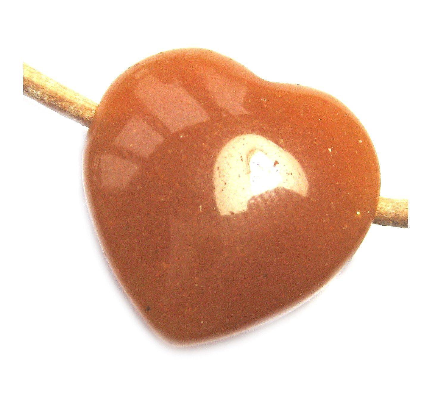 Herz Aventurin Aventurinquarz orange 25 mm gebohrt Amaryllis GbR 4250659100903