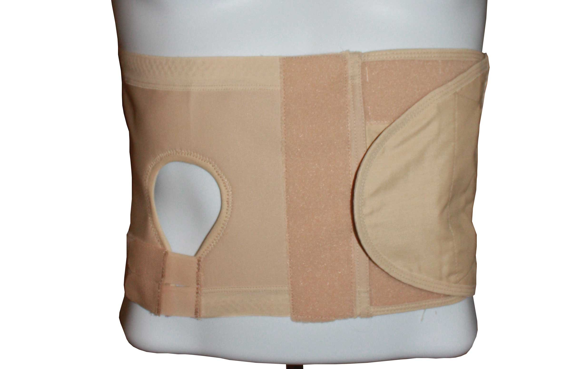Safe n' Simple Left Hernia Support Belt with Adjustable Hole, 20cm, Beige, Small by Safe n' Simple
