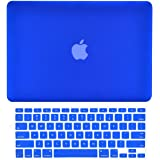 "TOP CASE 2 in 1 Bundle - Rubberized Hard Case Cover and Keyboard Cover for Old Generation Macbook Pro 15"" with DVD DRIVE A1286 (Case NOT for Retina Display) with TopCase Mouse Pad - Royal Blue"