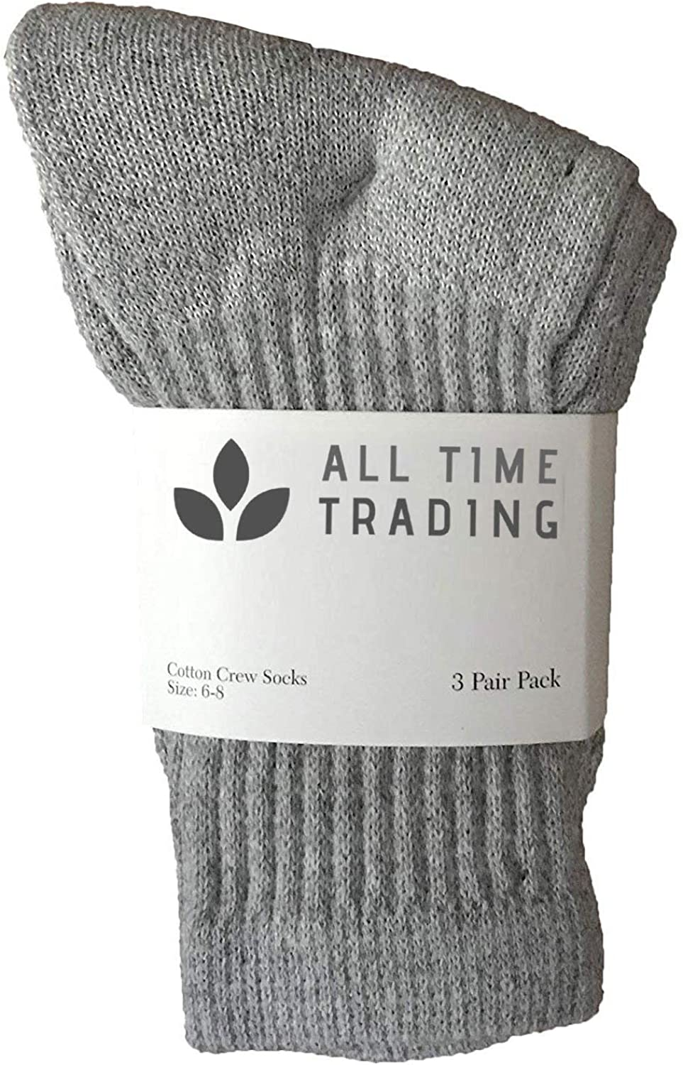 Kids Wholesale Cotton Crew Socks Gray Crew Socks For Kids Sock Size 4-6 Gray