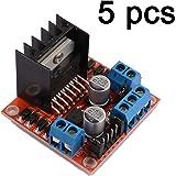 Gaoxing Tech. 5PCS Dual H Pont DC Stepper Motor Drive Module Module de contrôleur L298N pour arduino