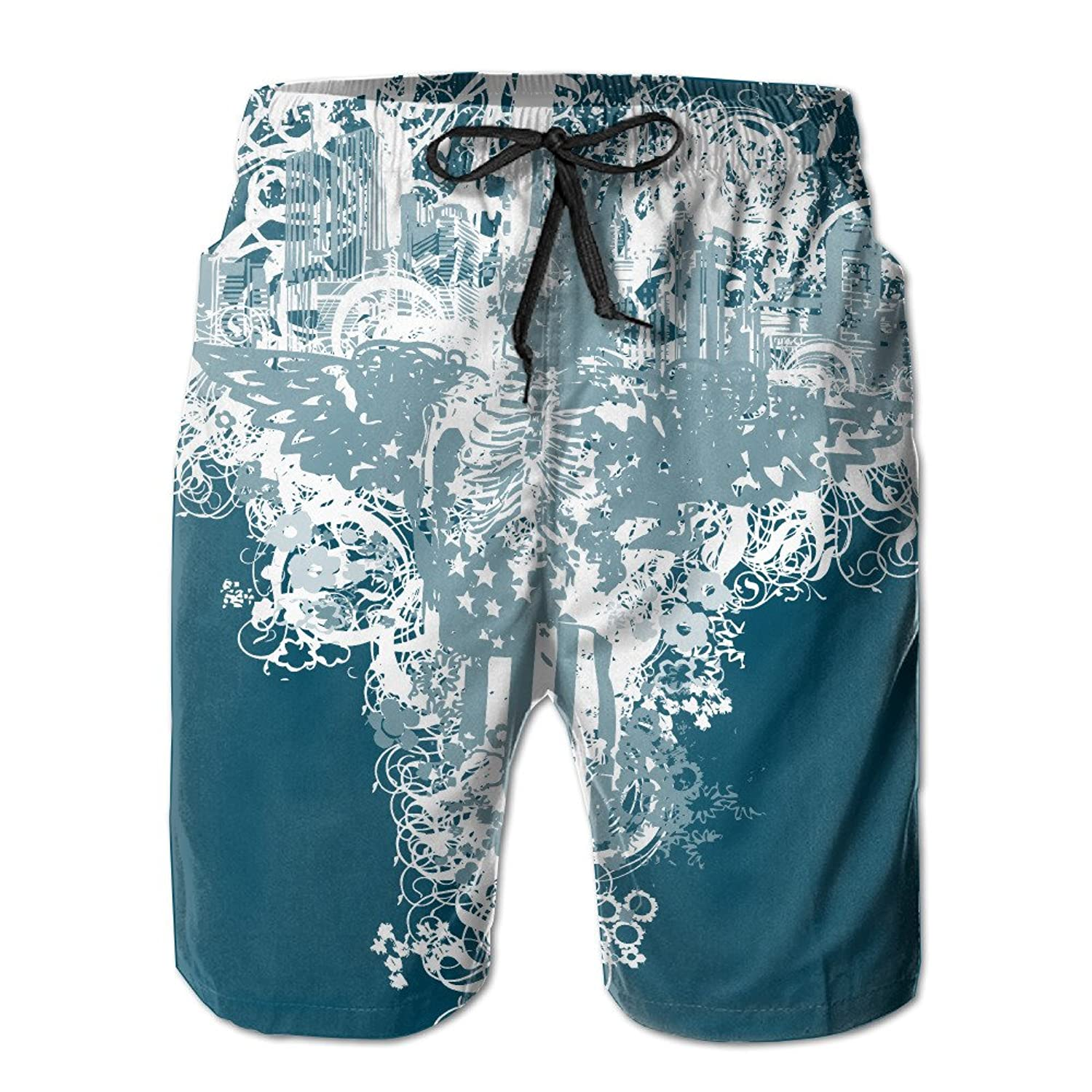0282020dd7 outlet Skulls American Flag Newest Men s Workout swim Trunks Summer Quick  Dry Board Shorts With Pockets Home