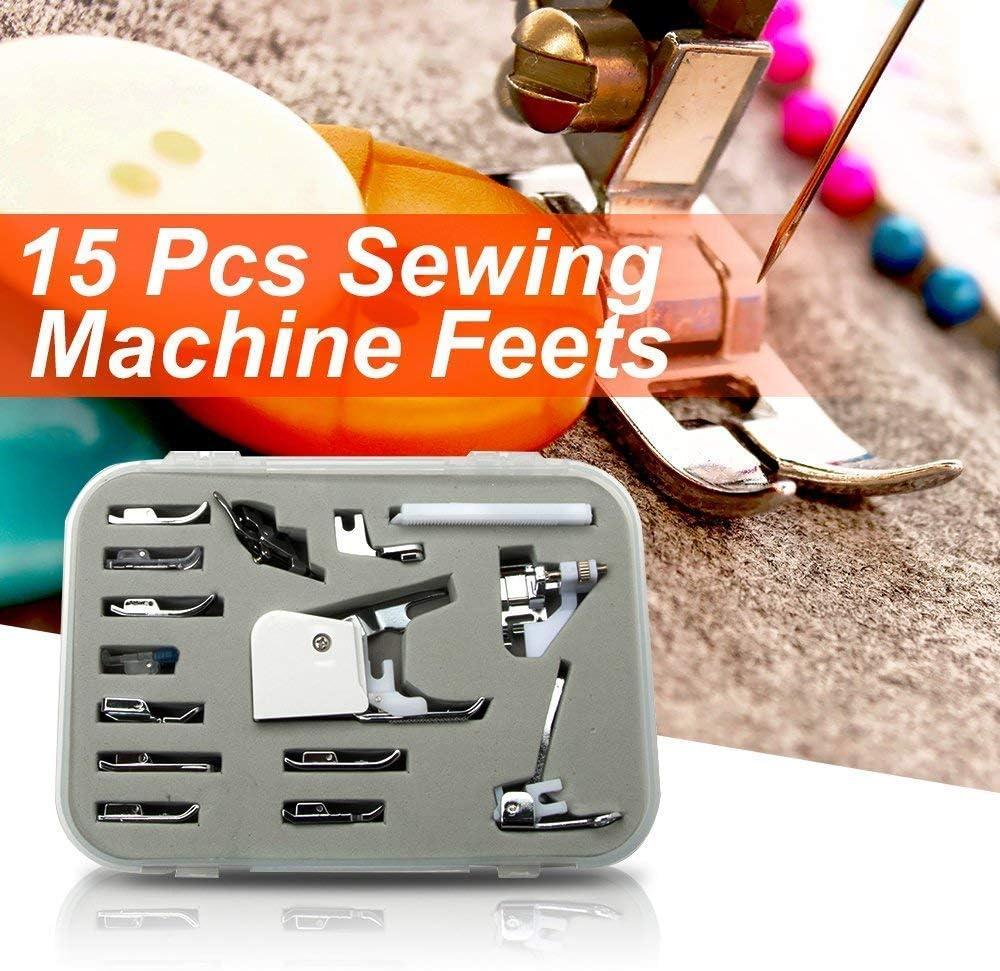 SimSel - Juego de 15 piezas de prensatelas para máquina de coser Janome New Home Memory Craft: Amazon.es: Juguetes y juegos