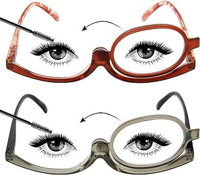 LianSan - Gafas de lectura con lentes giratorias para maquillaje ...